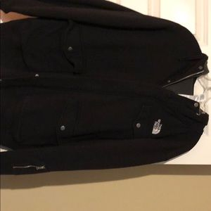 North Face black zip-up hoodie size-xl